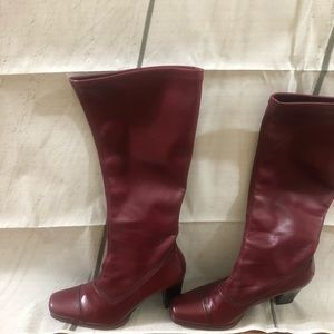 Franco Sarto red Boots. Size 5